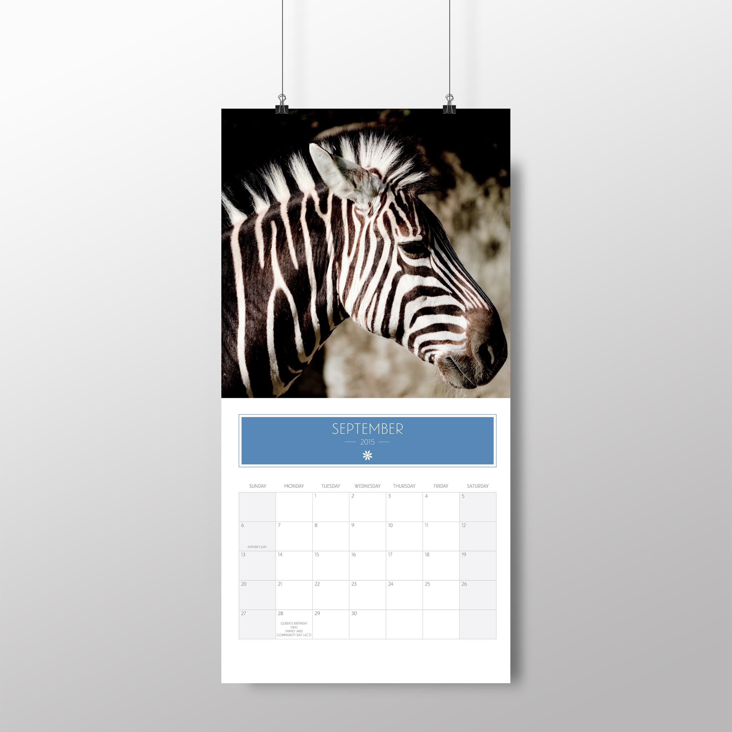 Animal calendar – September