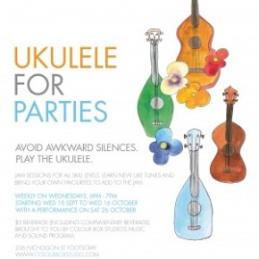 ukulele jams at Colour Box Studio