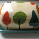 4 seasons butter dish $50.00 by Ceramic Relief available at the Colour Box Studio Summer Pop Up Shop