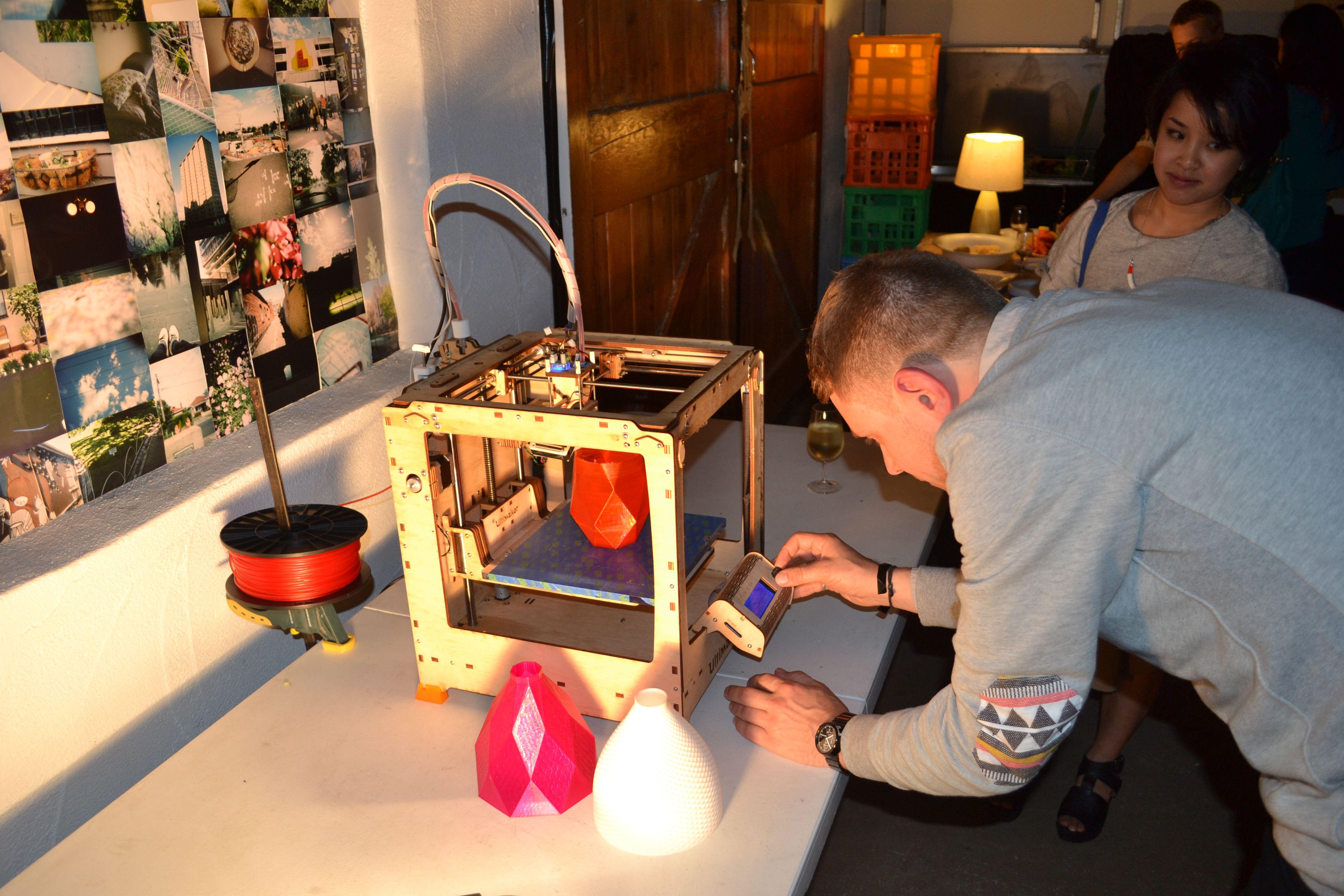 Studio Batch 3D Printer at Colour Box Studio Summer Pop Up Shop Opening Night