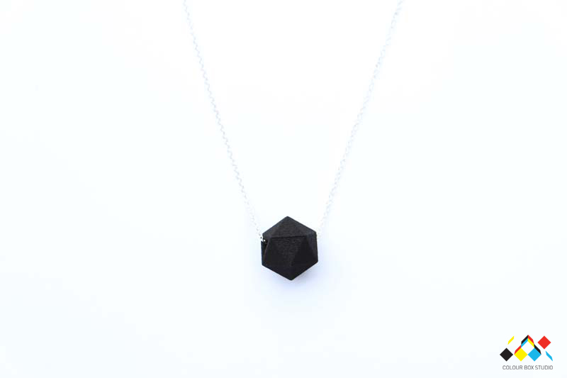Studio Batch - Single Bead Necklace - Matte Black Nylon