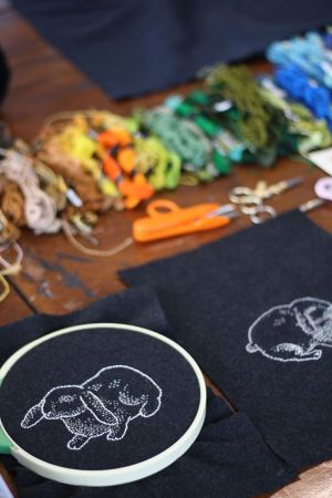 Bats of Leisure Embroidery Workshop Image by Kendall Manz