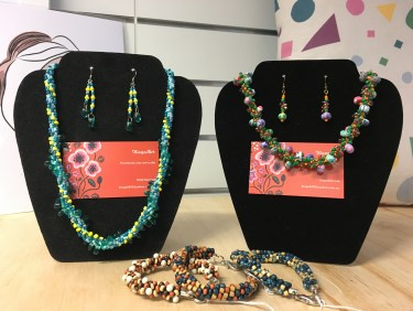 Earring and necklace sets by Kinga