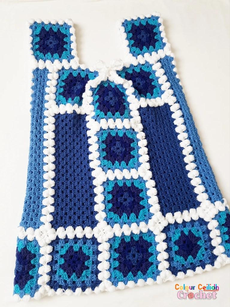 crochet afghan top january blues