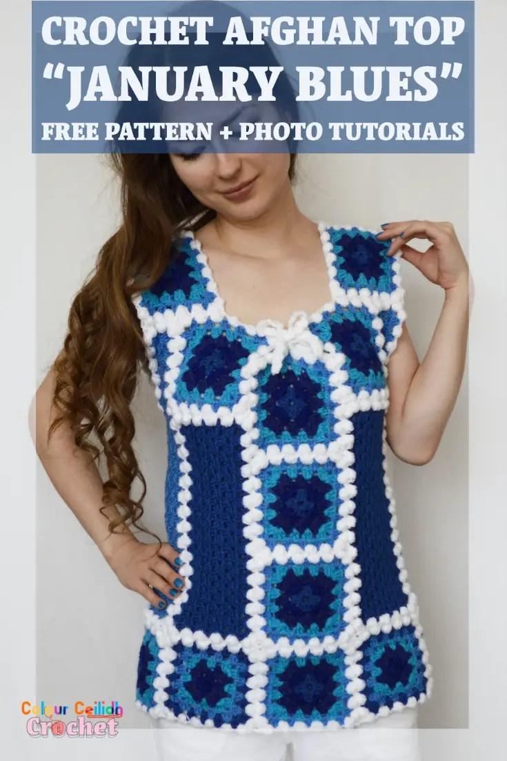 crochet afghan top january blues pin free pattern photo tutorials