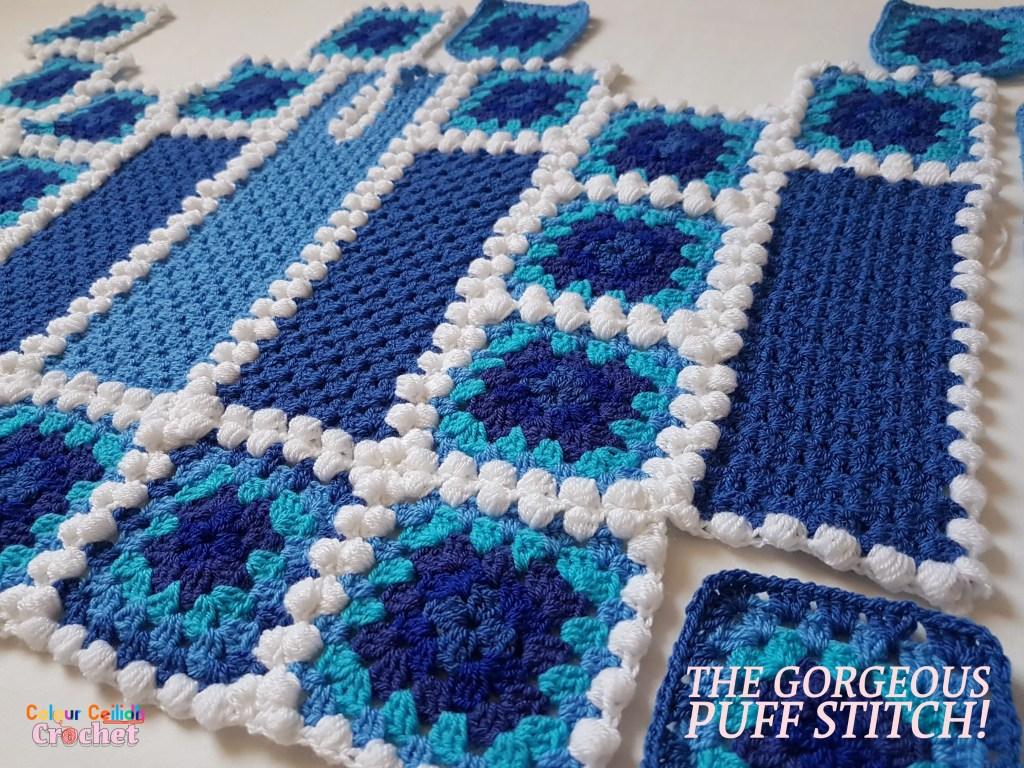 puff stitch crochet afghan top january blues