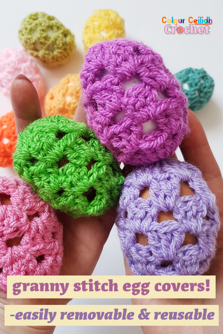 This crochet Easter egg covers photo tutorial walks you through a few easy steps to help you complete this funky looking Easter project fast.