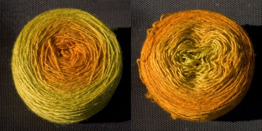 same skein wound one way and the other!