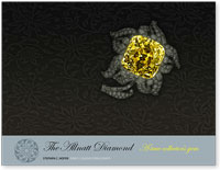 This exclusive book documents the history and characteristics of the famous Allnatt yellow diamond, for a private collector.  The Allnatt is a Fancy Vivid yellow stone that weighs slightly over 100 carats.  The stone was once owned by British businessman, Major Alfred Ernest Allnatt.  It was exhibited at the Smithsonian Museum in Washington, D.C., and at the Natural History Museum in London, England.  It is mounted in a floral brooch designed by the famous jeweler Cartier.