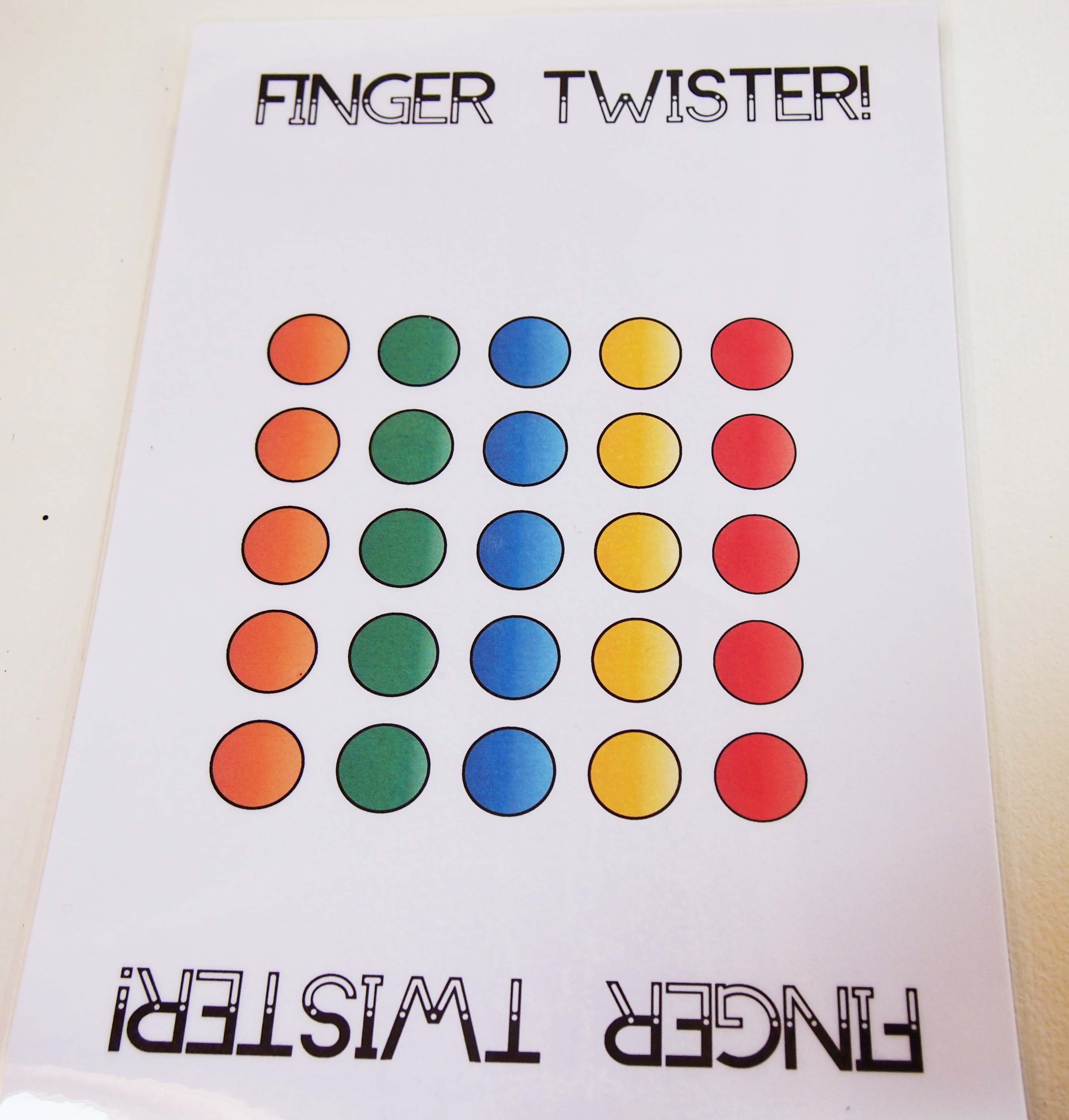 Piano Finger Number Twister Colourful Keys