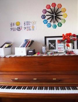 My Piano Studio Decor