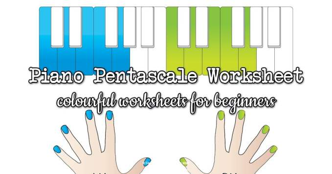 C and G Piano Pentascale Worksheets