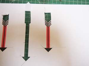 Grade 6 scale spinner cut out arrows