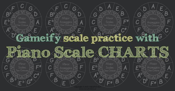 Gameify Piano Scales with Scale Level Charts for Piano Students