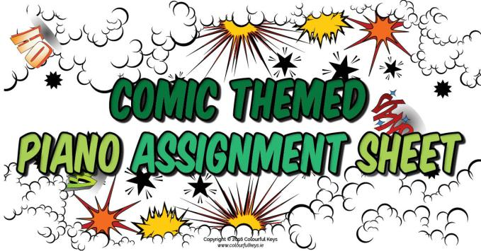 Comic Assignment Sheet – with challenges!
