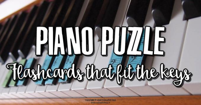Piano Puzzle – Piano flashcards that fit the keys!
