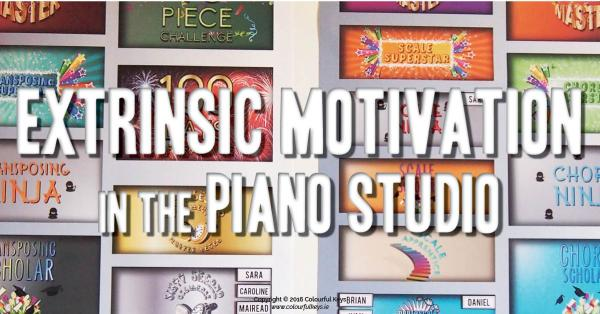 Motivation board piano studio