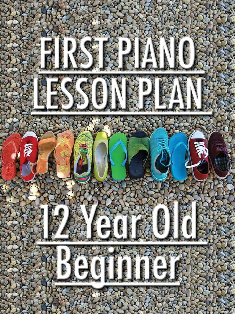 First piano lesson with a 12 year old beginner