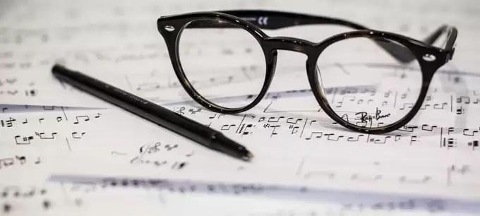 Sheet music score study