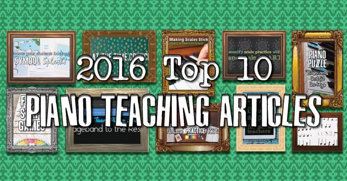 10 Best Piano Teaching Articles of 2016