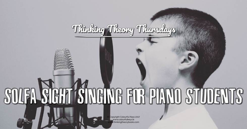 Sight singing for piano teachers