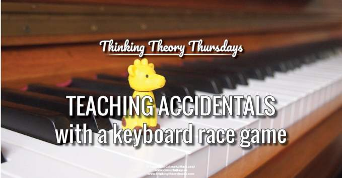 Keyboard Races to Teach Accidentals, Semitones and Tones