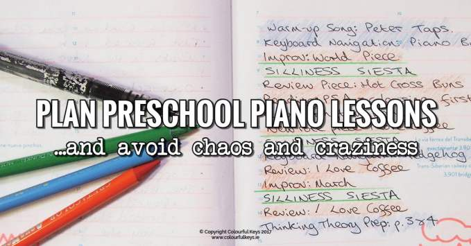 Top Tips for Keeping a Preschool Piano Lesson Under Control