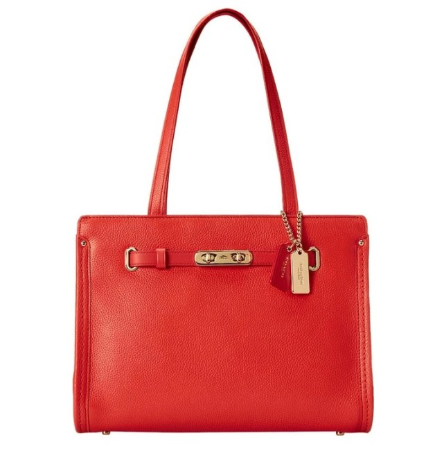 Coach Swagger Pebbled Small Tote 34915