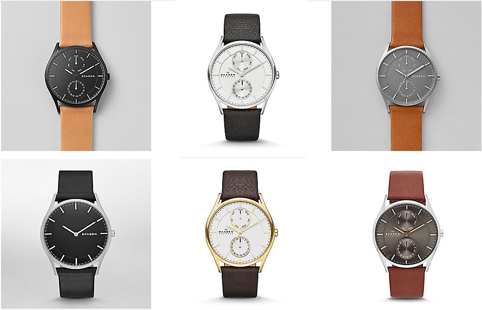Skagen-Mens-Multifunction-Leather-Colours