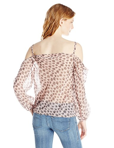 Women's Ryan Graphic Flower Chiffon Cold Shoulder Blouse by Rebecca Minkoff