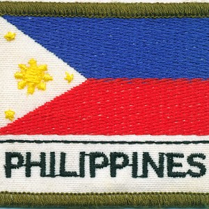 Philippines Flag Patch - (Polyester)