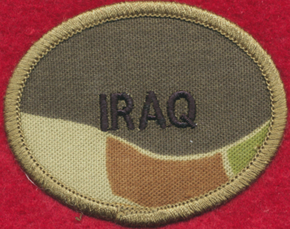 IRAQ Oval (Biscuit) Patch - DPCU
