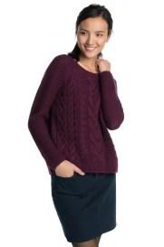 jersey de punto grueso con lana