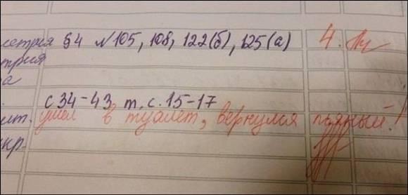 Записи из школьных дневников » Видео и фото приколы ...