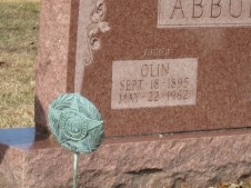 Abbuhl Olin WW1 marker