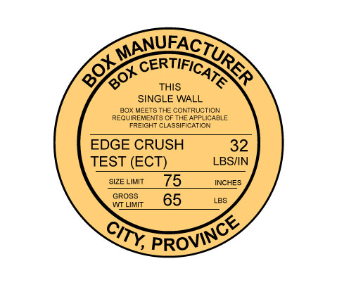 Edge Crush Test Certificate