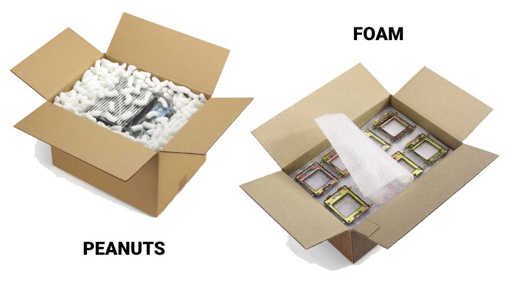void fill peanuts foam