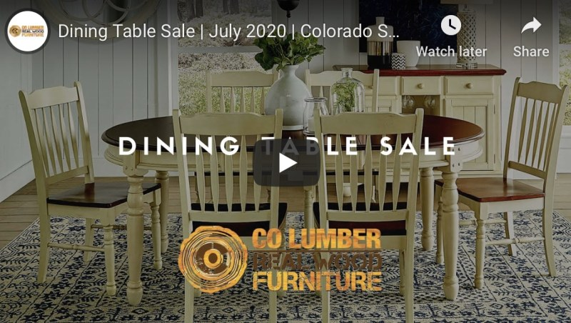 dining table sales july 2020