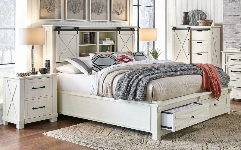 storage bed white