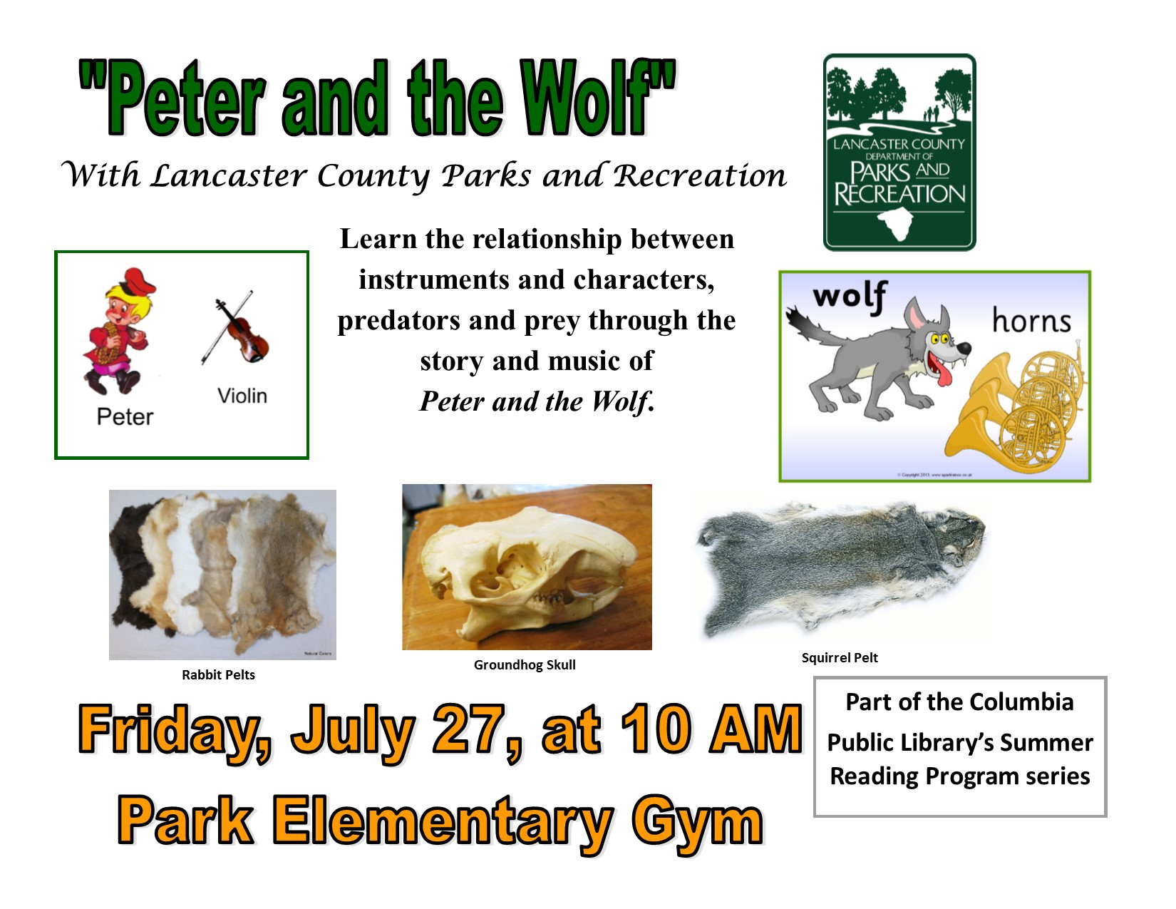 Peter And The Wolf With Lancaster County Parks And