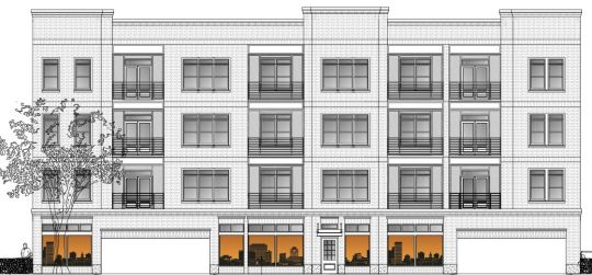 A Proposed Four Story Apartment Building Would Face Pendleton Street And Be Located Across From