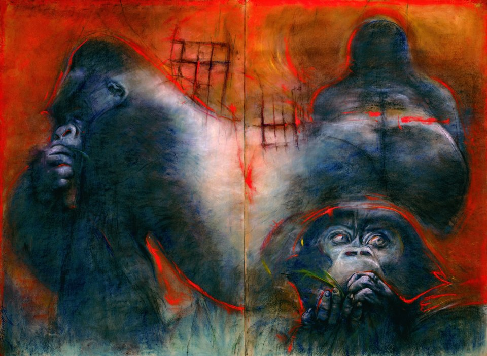 """""""Silverback"""" by Bob Ziering. Courtesy of the artist."""