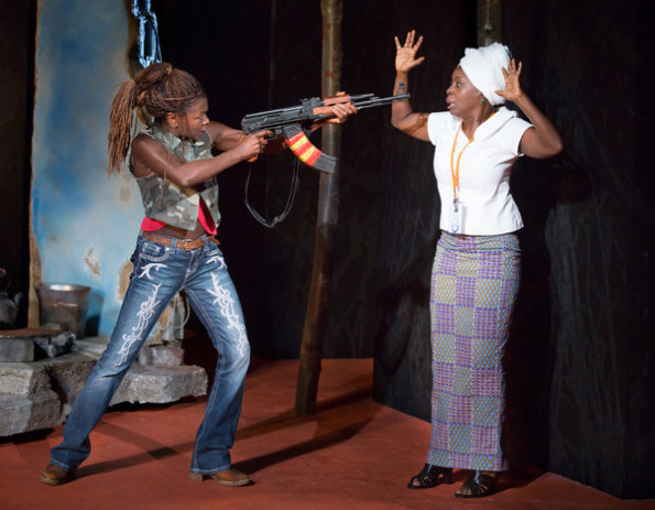 NY Times - Zainab Jah and Akosua Busia in a scene from Eclipsed