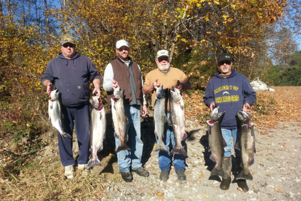 Washington fishing guides love the Fall run of salmon!