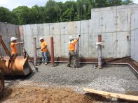 Dumpster Pad Being Prepped for Concrete