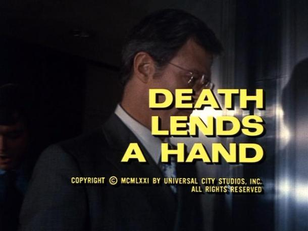 Death Lends a Hand title