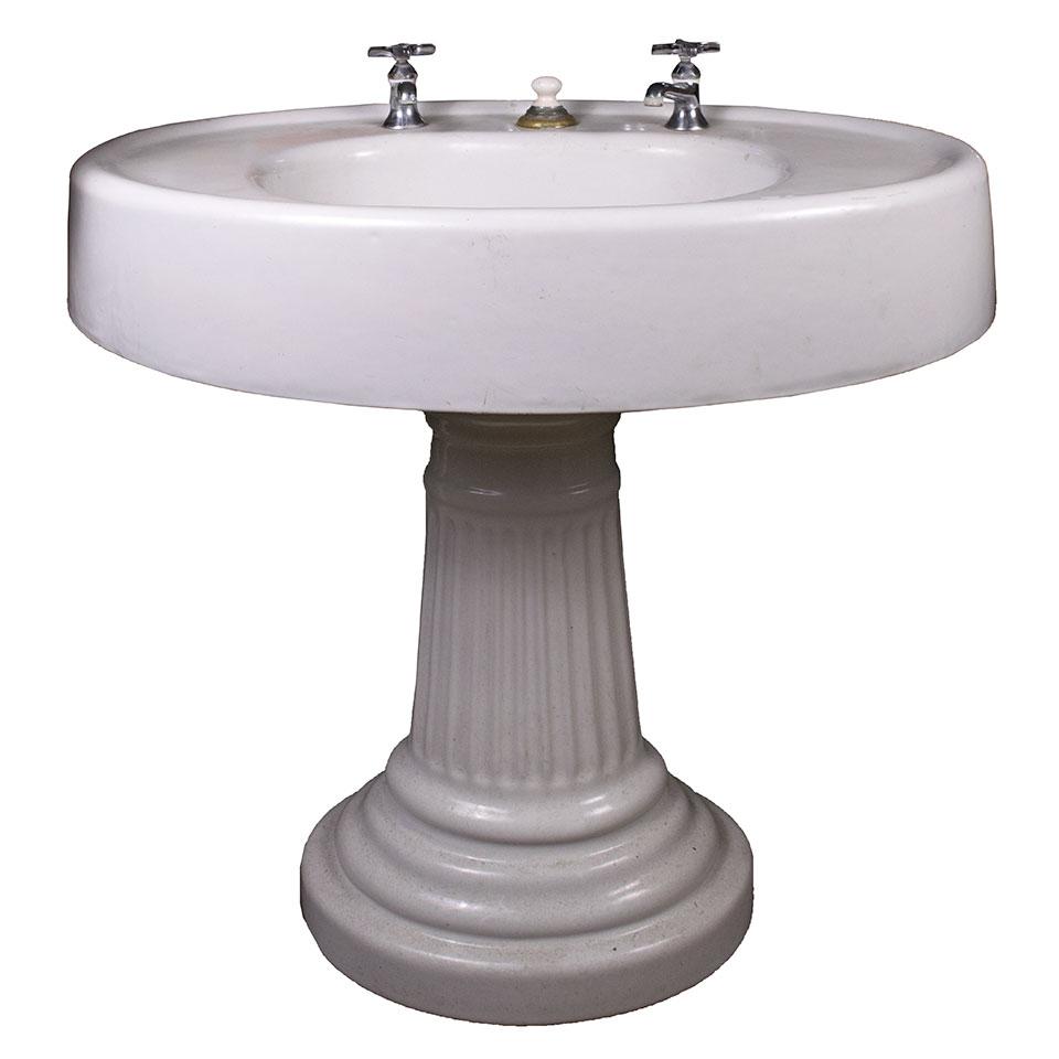 cast iron pedestal sink