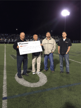 Todd Hays Presenting our Scholarship Contribution of $1000 to the Westerville Central High Athletic Department