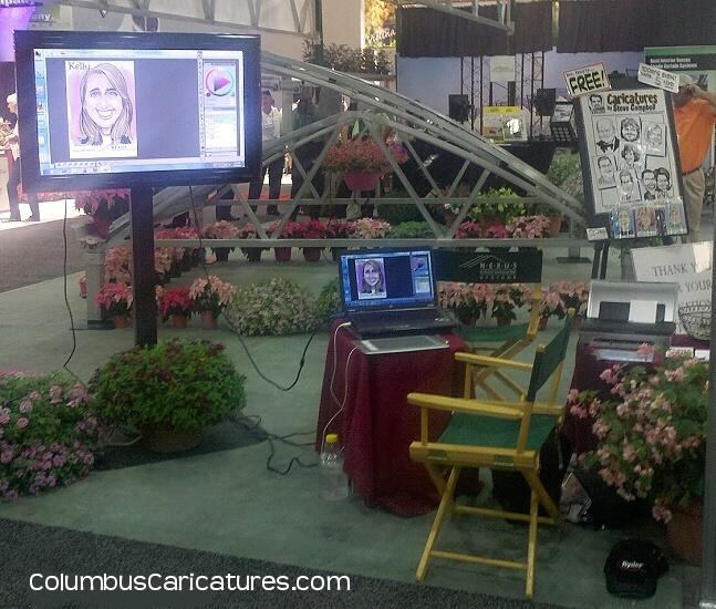 Live digital caricature set-up