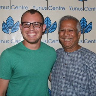 Daniel Rodriguez Segura with a friend in Bangladesh